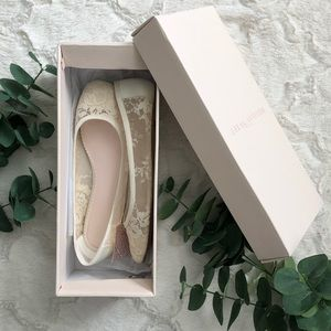 Laney Cream Lace Flats - Bridal / Wedding